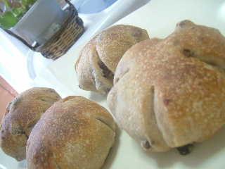 胡桃とレーズンパン