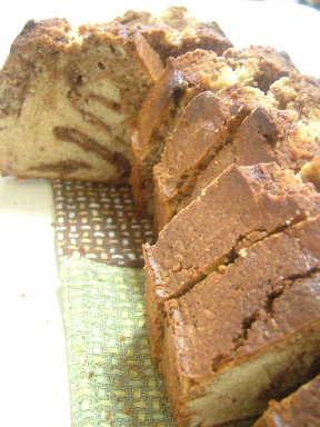 マロンとチョコレートのバターケーキ