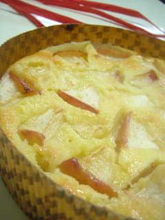 シャキシャキりんごとヨーグルトのケーキ