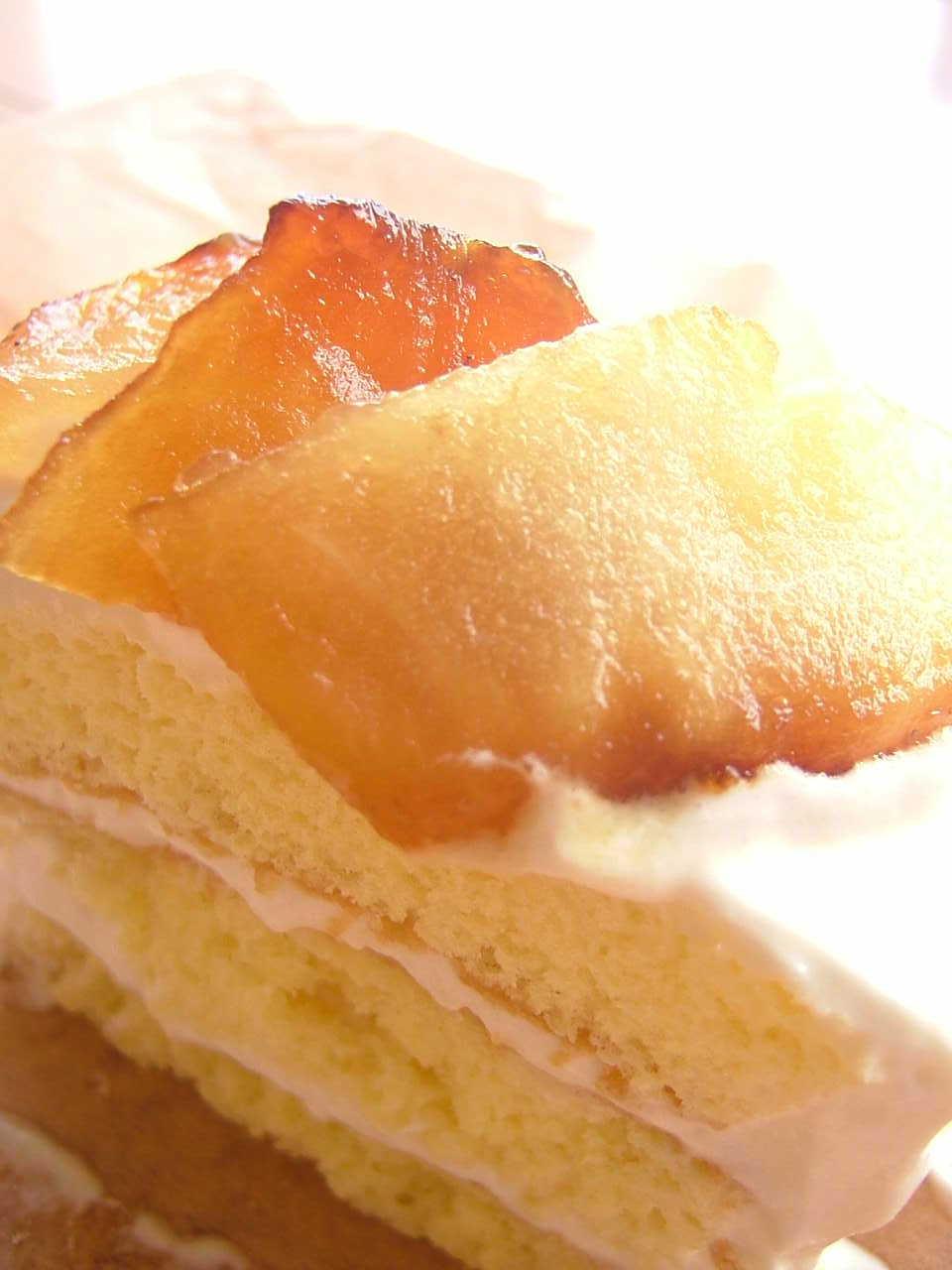 林檎のキャラメルケーキ
