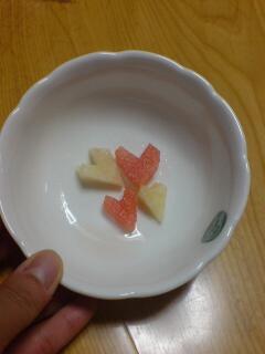 スイカと白桃