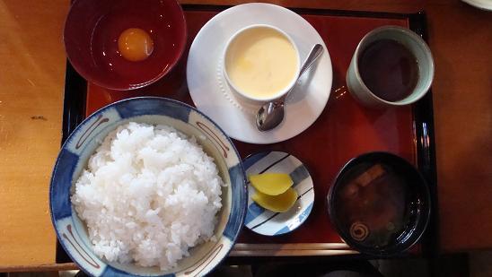 卵かけご飯定食大盛り+プリン♪
