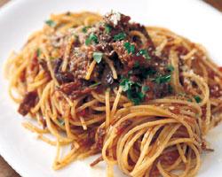 牛ほほ肉のスパゲッティ