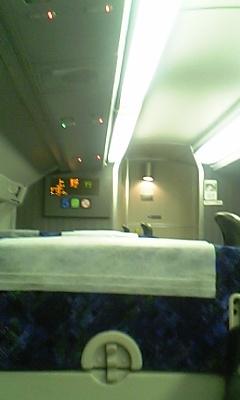 2階席より。上野行き