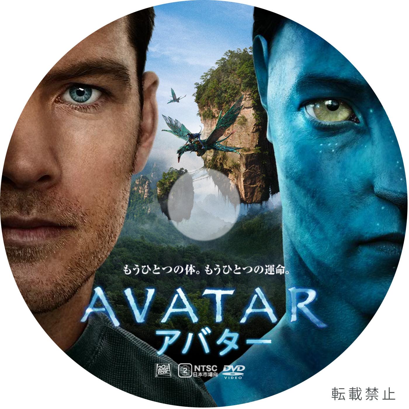 Avatar 2 X 12: アバター AVATAR DVDラベル