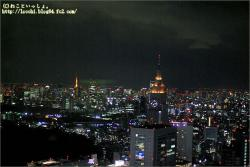 新宿センタービル53階からの夜景。