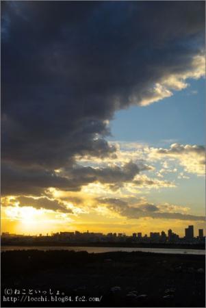 夕景。<葛西臨海公園>