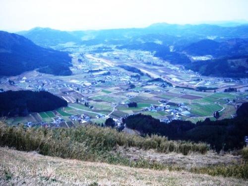 頂上から見た玖珠町