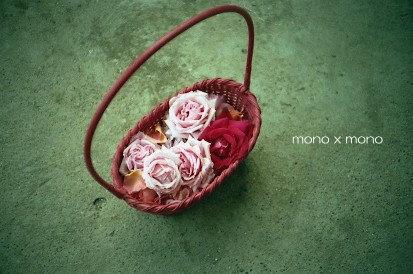 籠いっぱいの薔薇の花