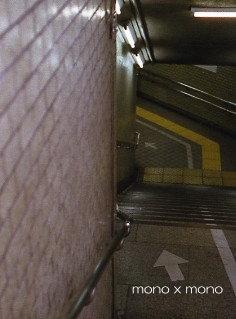 ペンスケッチ展の帰りに地下鉄の階段でパチリすれ違う人が「何を撮ってるの?」と不思議そうでしたw