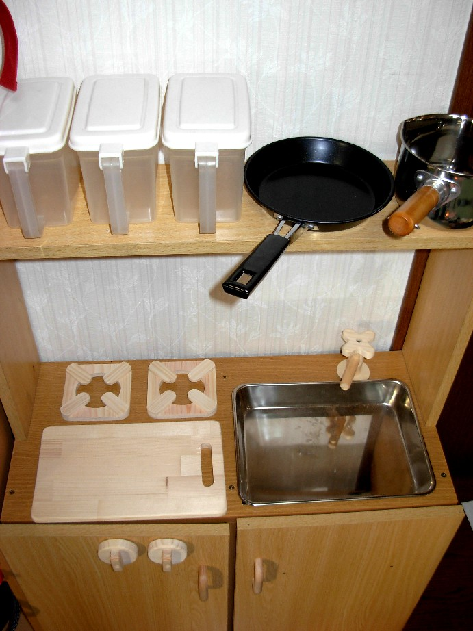 キッチン 手作りままごとキッチンカラーボックス : ... ままごとキッチンの材料