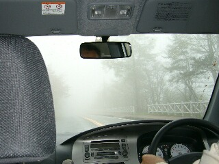 霧で見えません、、、