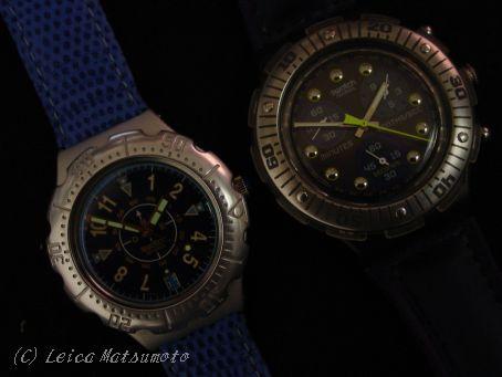 3針とクロノのswatch