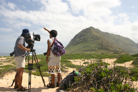 カエナ岬撮影風景