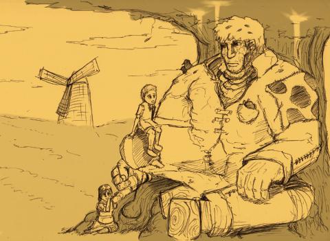 巨人と子供