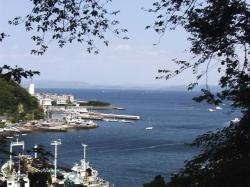 途中の展望場所から見た浦賀港