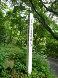 碧血碑への道入口