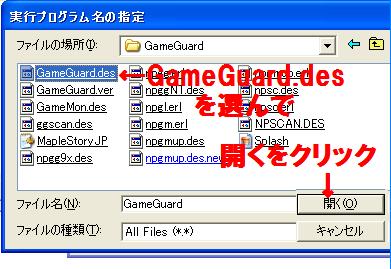 GameGuard設定2