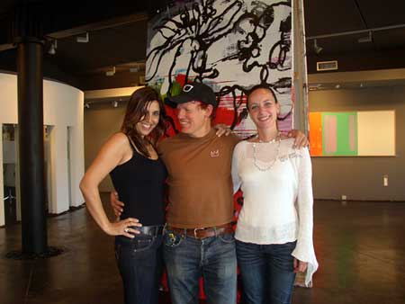 with Ana and Leticia, AM Gallery, Almeria, Spain