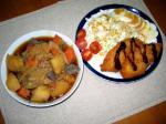 白身魚&肉ジャガ