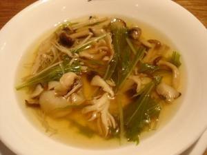 きのこと水菜のスープ