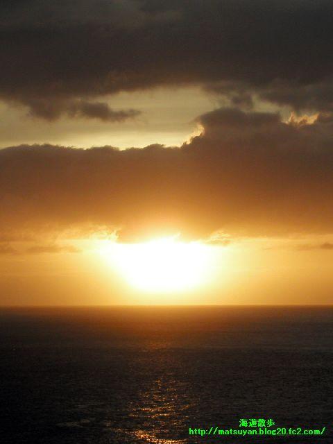 志木名島の夕日