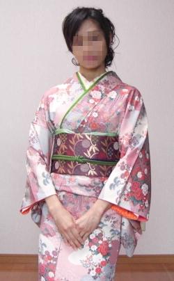 桃色小紋 結婚式2次会