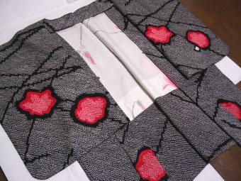 黒の総絞り 羽織