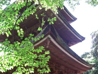 霊山寺の三重の塔