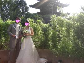 結婚式 良いお天気♪ 新婦さんかわいい♪