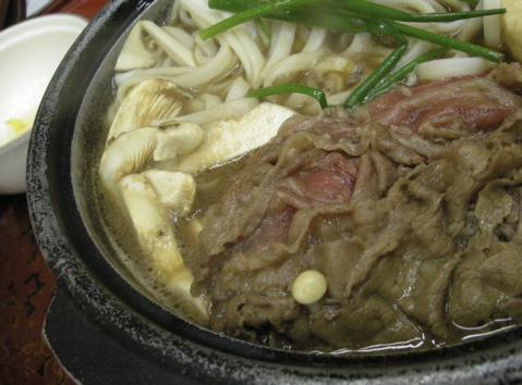 松茸いり牛鍋