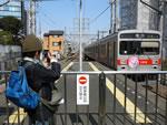 鉄道動画撮影中@東急80周年ヘッドマーク車両
