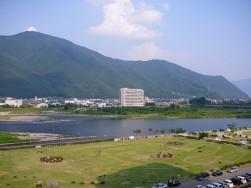 千曲川の眺め@戸倉上山田温泉リバーサイド上田館