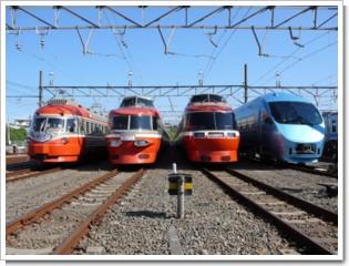ロマンスカー大集合@小田急ファミリー鉄道展2007