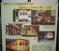 銀座線第一号車の搬送展示