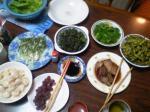 久々の実家の食卓