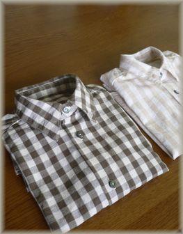 チェックシャツ+