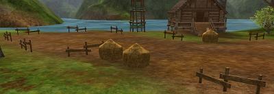 刈り取られた畑inラジャフ村