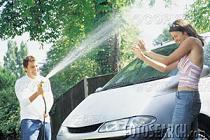 ホースで洗車