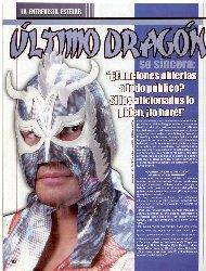 ウルティモ・ドラゴン独占インタビュー (06.04.03)