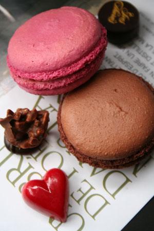 マカロン、そしてチョコレート