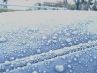 車凍ってる!
