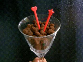 福豆ショコラ、グラス