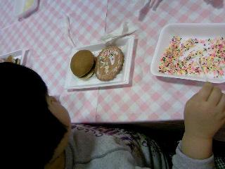 ミカ、お絵描きクッキー