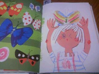 おえかきブック蝶