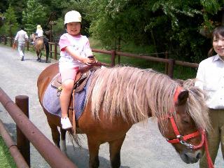 リナ乗馬②