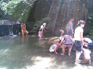 川遊び8月