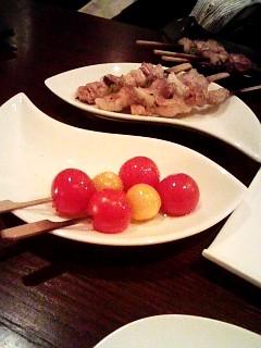 彩りトマト串