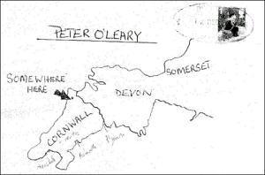 テケトー地図付き手紙