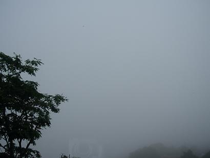 10月1日霧模様